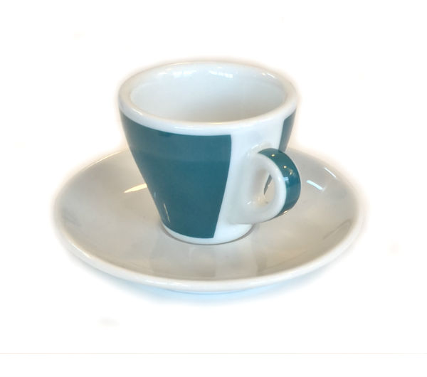 """TORINO"" espresso cups - green (teal)"