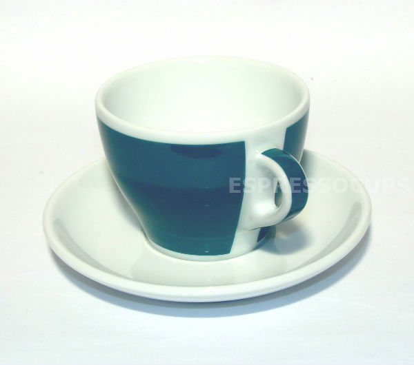 """TORINO"" Tea/Cappuccino L cups - green (teal)"