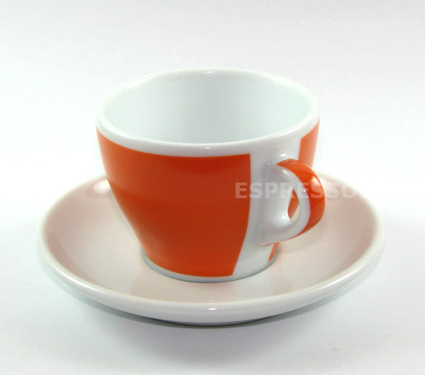 """TORINO"" Tea/Cappuccino L cups - orange"