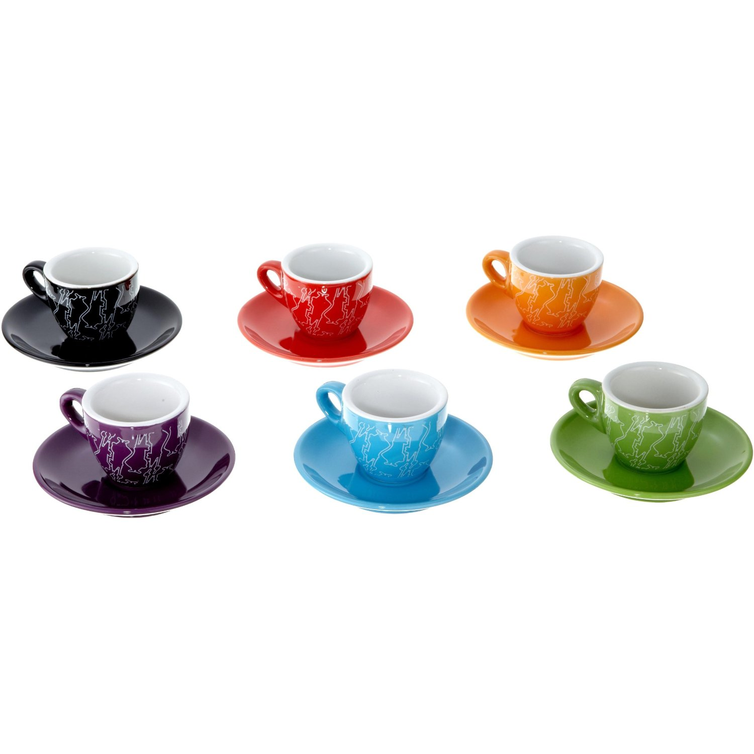"""I COLORATI"" Set of 6 espresso cups"