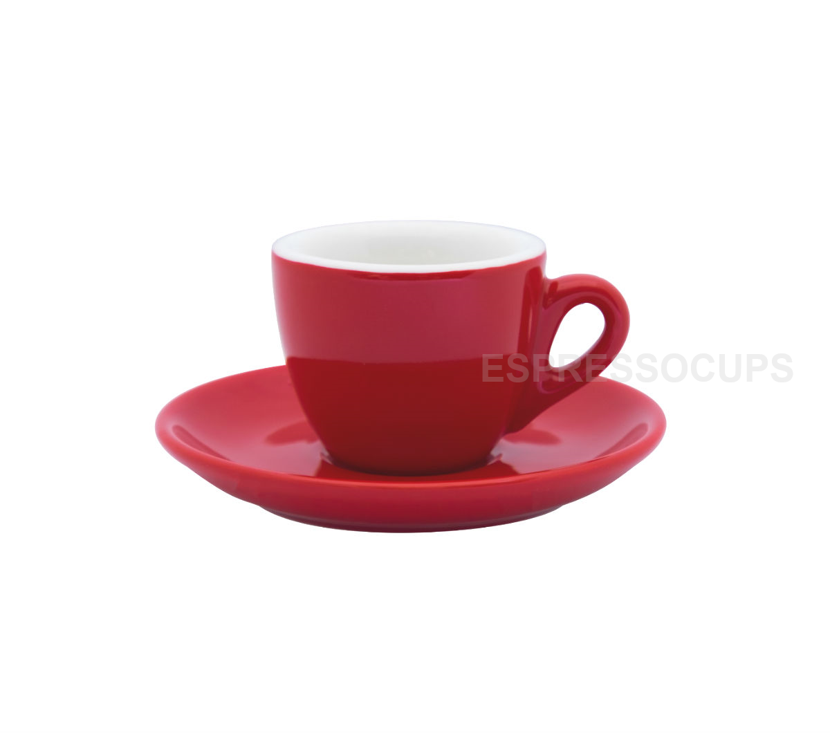 """ROSA"" Espresso Cups 70ml - red"