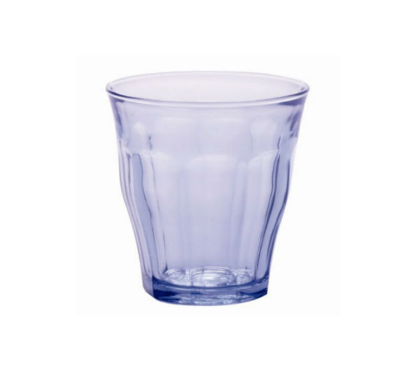 """PICARDIE"" glass tumblers blue marine (220 ml / 7 3/4 oz)"