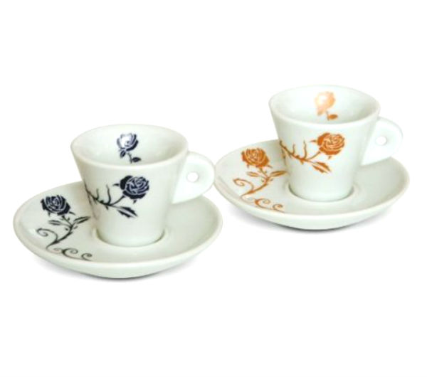 """Fancy Roses"" espresso cups set"