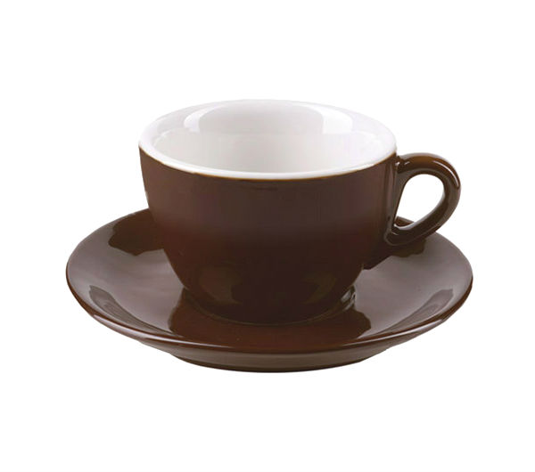"""AOSTA"" Cappuccino Cups 167ml - dark brown"