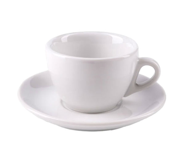"""AOSTA"" Cappuccino Cups 167ml - white"