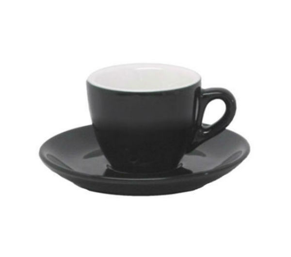 """AOSTA"" Espresso Cups 74ml - black"