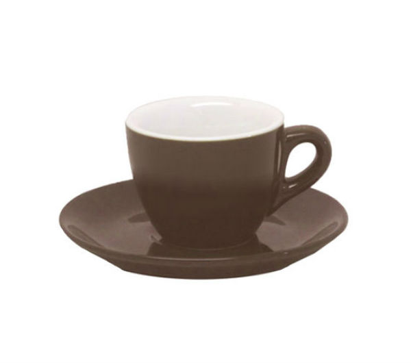 """AOSTA"" Espresso Cups 74ml - dark brown"