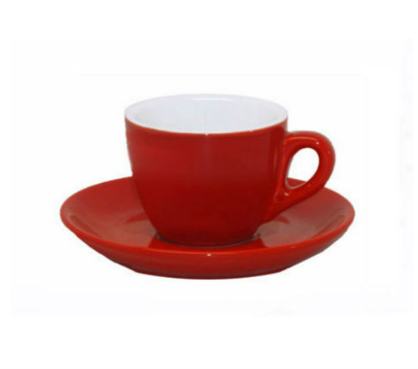 """AOSTA"" Espresso Cups 74ml - red"