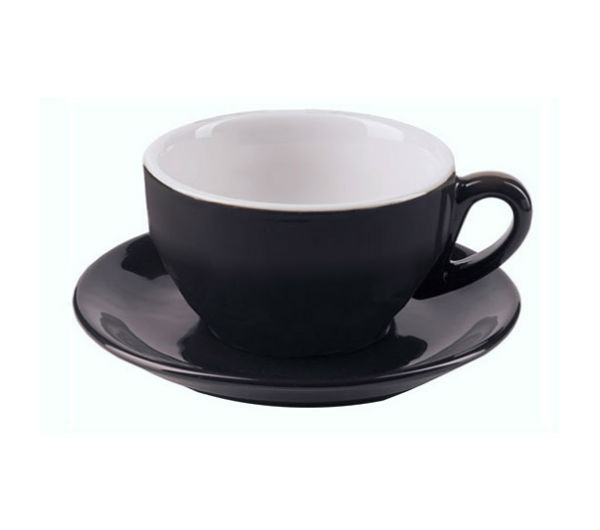 """MILANO"" Cappuccino Cups (IPA) 204ml - black"