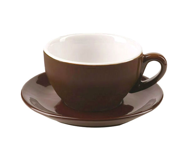 """MILANO"" Cappuccino Cups (IPA) 204ml - dark brown"