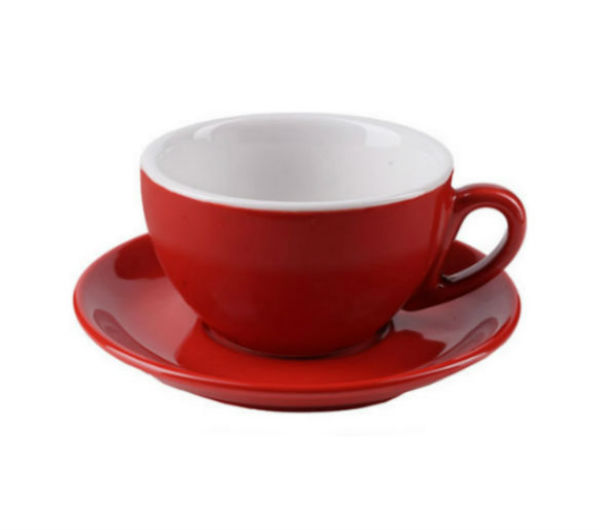 """MILANO"" Cappuccino Cups (IPA) 204ml - red"