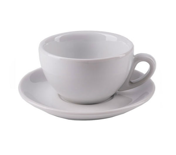 """MILANO"" Cappuccino Cups (IPA) 204ml - white"