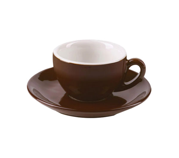 """MILANO"" Espresso Cups 81ml - dark brown"