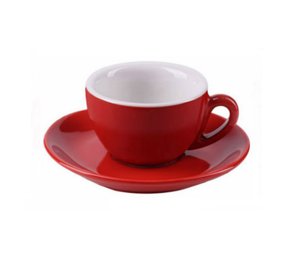 """MILANO"" Espresso Cups 81ml - red"