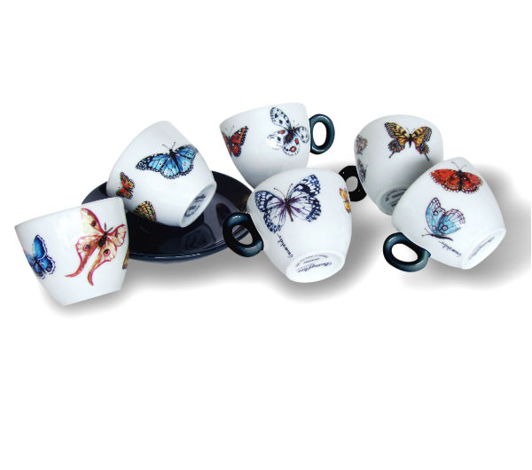 """BUTTERFLIES"" Espresso Cups Collection"