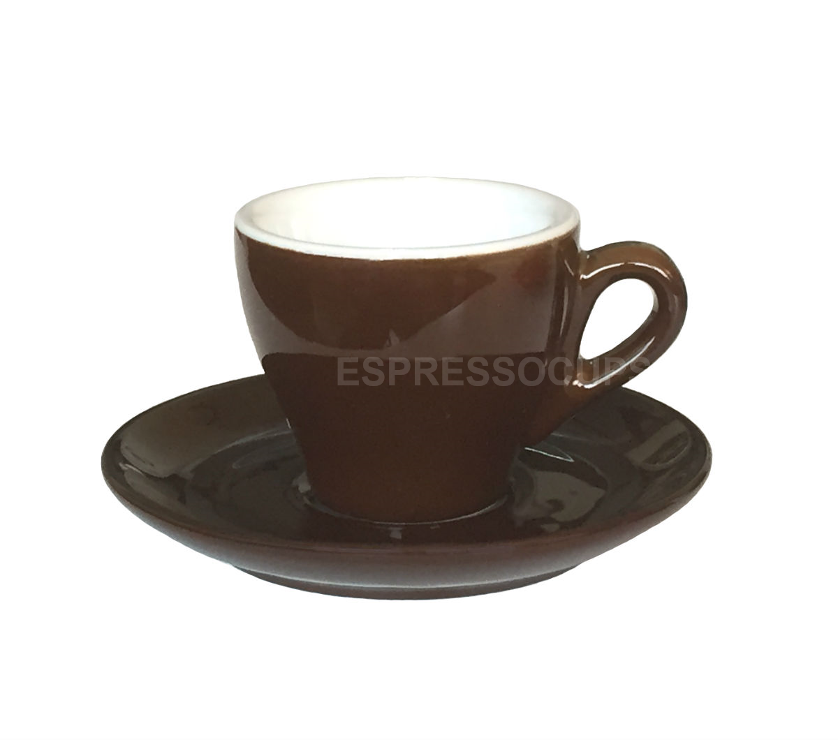 """GENOVA"" Espresso Cups - dark brown"