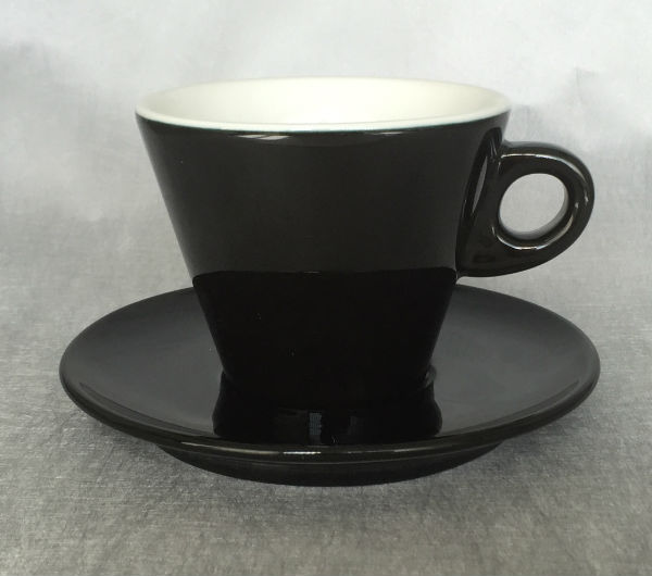 """LEONE"" Latte cups 270ml - black"