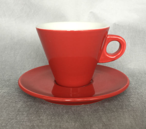 """LEONE"" Cappuccino cups - red"