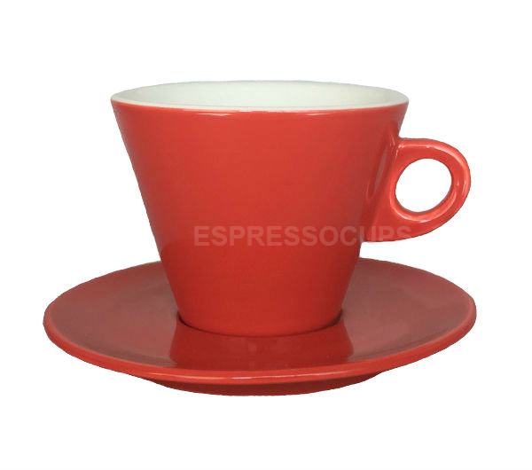 """LEONE"" Latte cups 270ml - red"