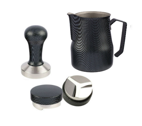 """CARBON"" Set (Pitcher, Tamper & Distribution Tool)"