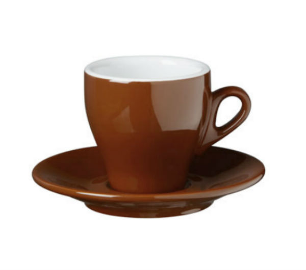 """MILANO"" Cappuccino cups - brown"