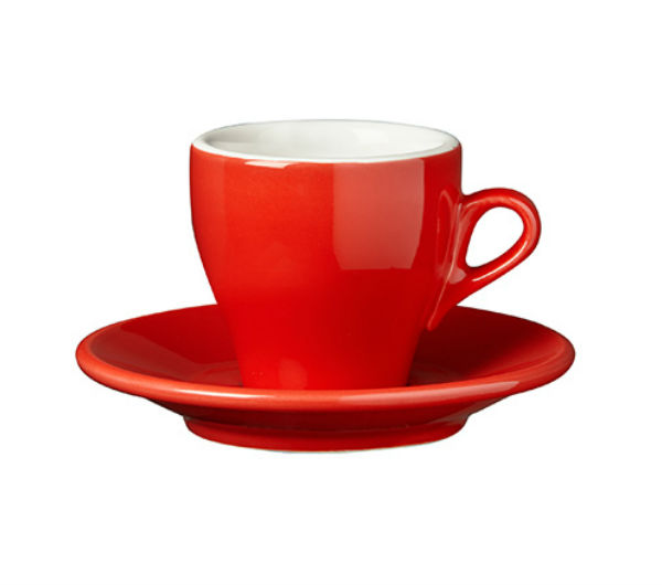 """MILANO"" Cappuccino cups - red"