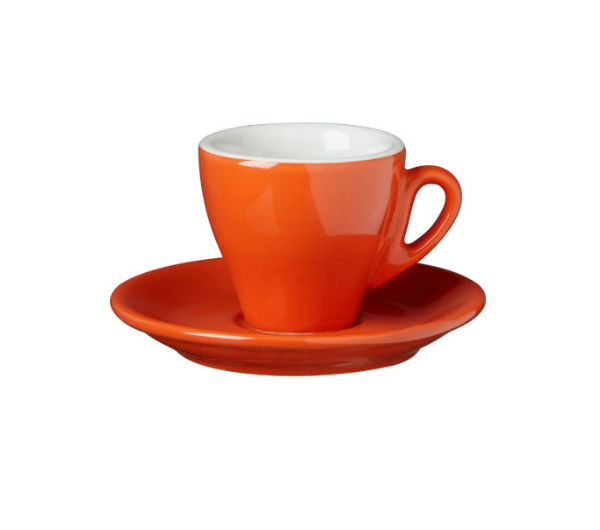 """MILANO"" espresso cups dark orange"