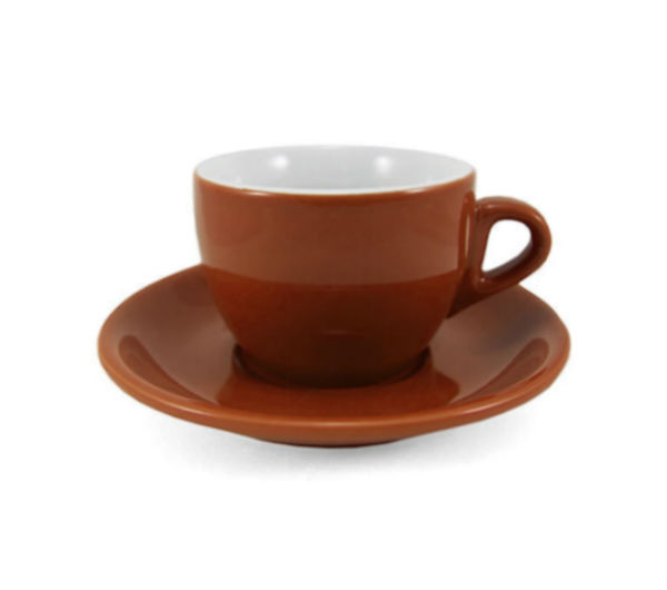 """VERONA"" Cappuccino Cups - brown"