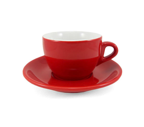 """VERONA"" Cappuccino Cups - red"