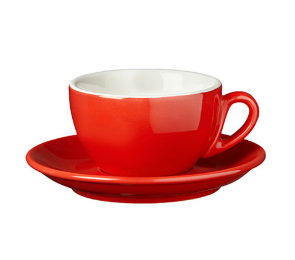 """PALERMO"" Cappuccino cups - red"