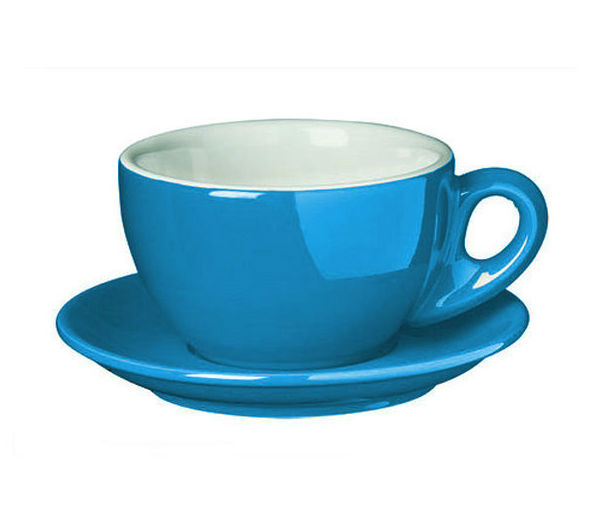 """PALERMO"" Latte cups 260ml - blue"