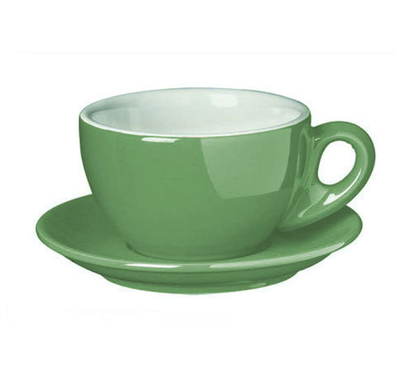 """PALERMO"" Latte cups 260ml - green"
