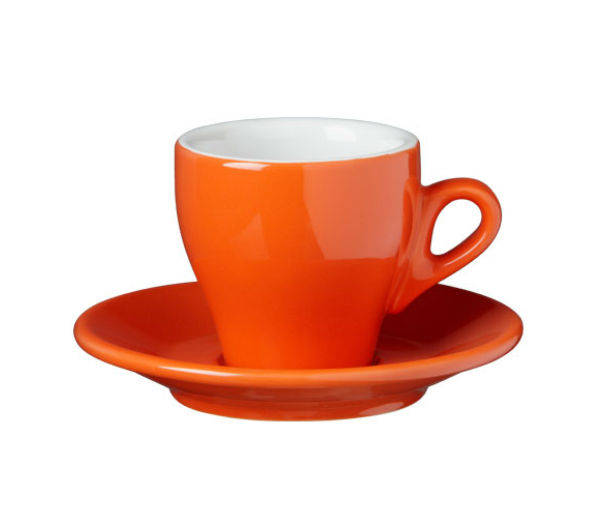 """MILANO"" Cappuccino cups - dark orange"