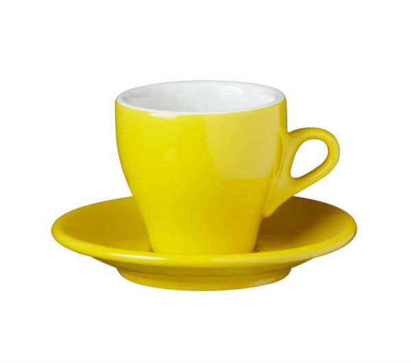 """MILANO"" Cappuccino cups - yellow"