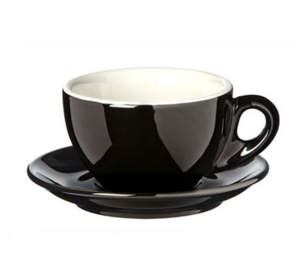 """PALERMO"" Latte cups 260ml - black"