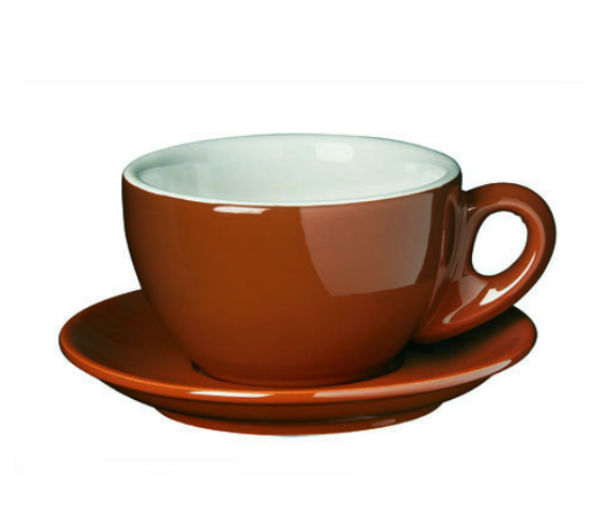 """PALERMO"" Latte cups 260ml - brown"