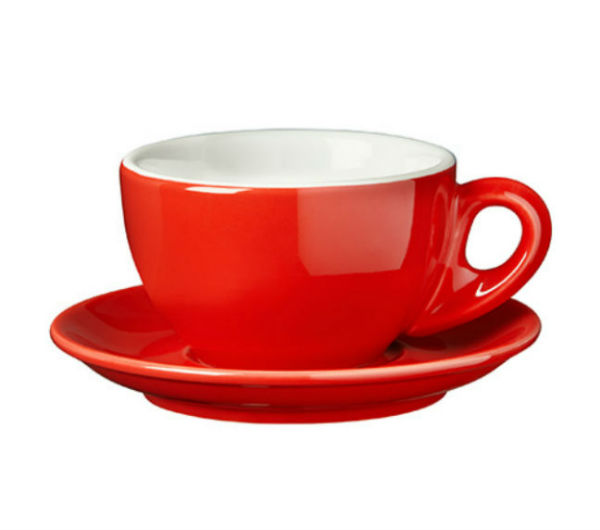 """PALERMO"" Latte cups 260ml - red"