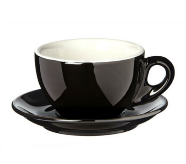 """PALERMO"" Latte cups 290ml - black"