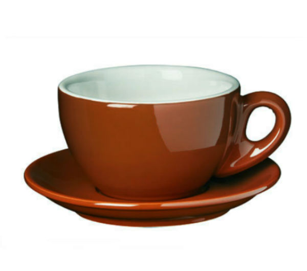 """PALERMO"" Latte cups 290ml - brown"