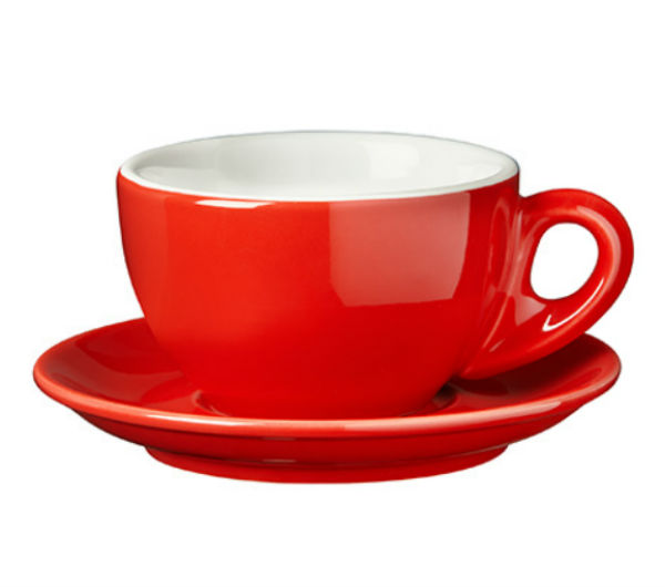 """PALERMO"" Latte cups 290ml - red"