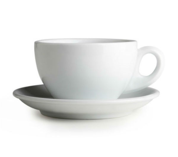 """PALERMO"" Latte cups 290ml - white"