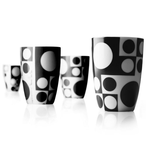 """PANTON"" Medium cups black"