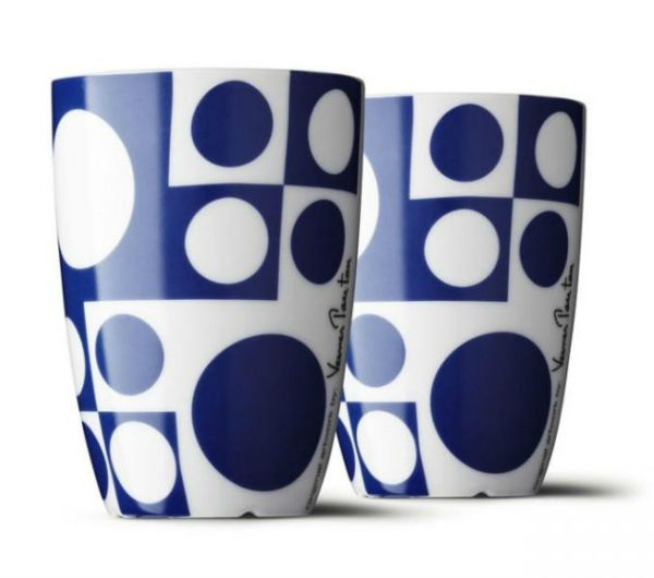 """PANTON"" Medium cups blue"