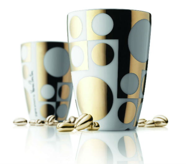 """PANTON"" Medium cups gold"