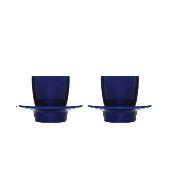 """LOOP"" espresso cups blue"