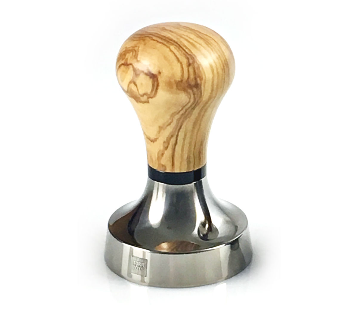 """GOLDFINGER"" 58.55mm TI Sharp Edge - Olive Wood"