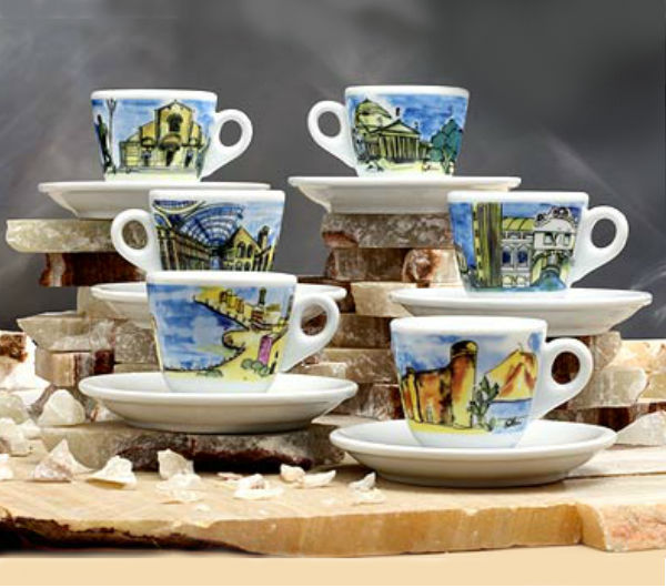 """ITALIAN CITIES"" espresso cups set"