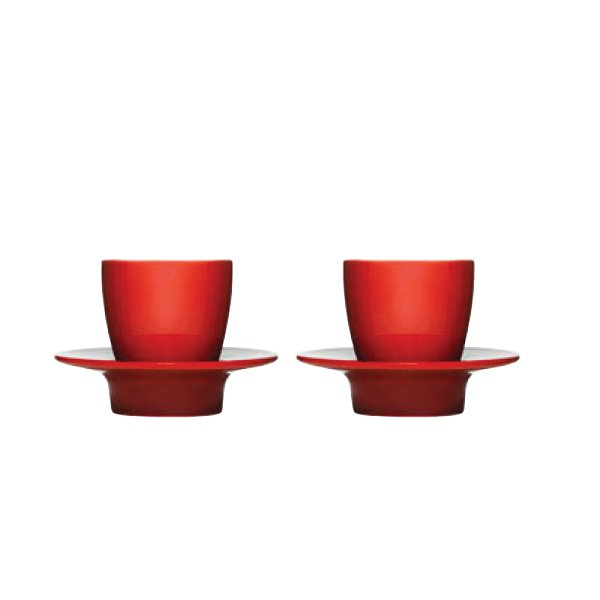 """LOOP"" espresso cups red"
